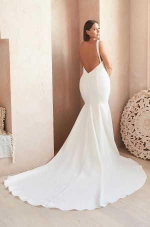 Classy Fitted Wedding Dress - Style #2359   Mikaella Bridal