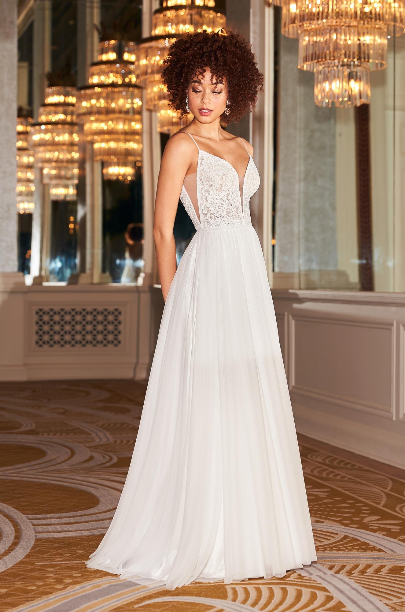 Graceful Tulle Wedding Dress - Style #2360   Mikaella Bridal