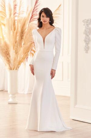 Puffed Sleeve Wedding Dress - Style #4950 | Paloma Blanca
