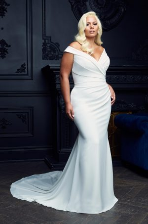 Elegant Neckline Wedding Dress - Style #4955   Paloma Blanca