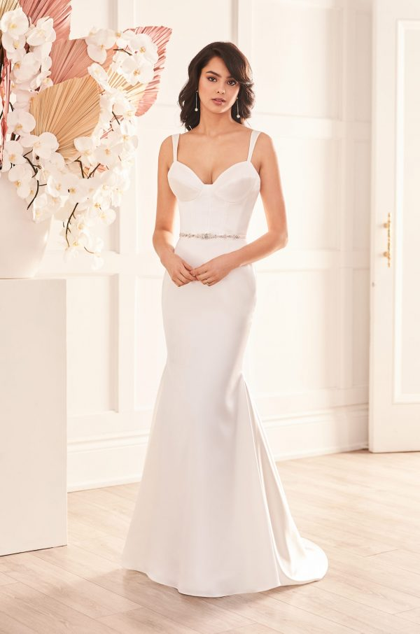 Captivating Satin Wedding Dress - Style #4957 | Paloma Blanca
