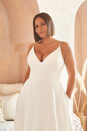 Dreamy Crêpe Wedding Dress - Style #2327 | Mikaella Bridal