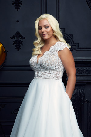Cute Cap Sleeve Wedding Dress - Style #4904 | Paloma Blanca