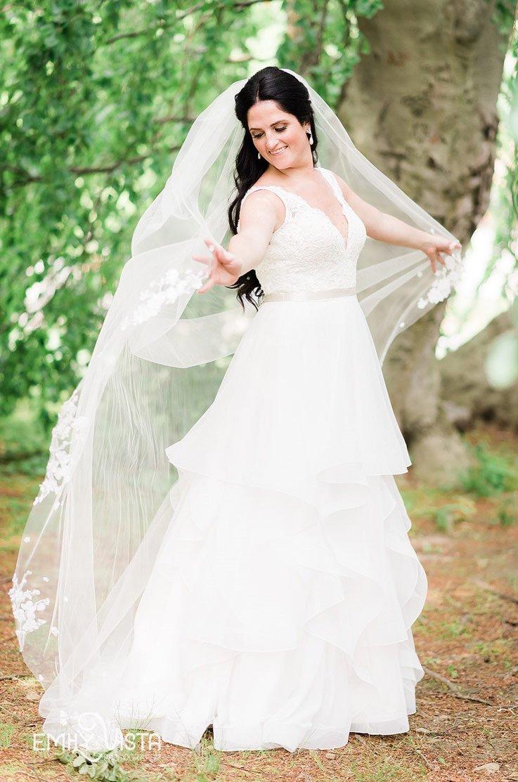 Real Bride Whitby Castle – Brigid & David | Paloma Blanca