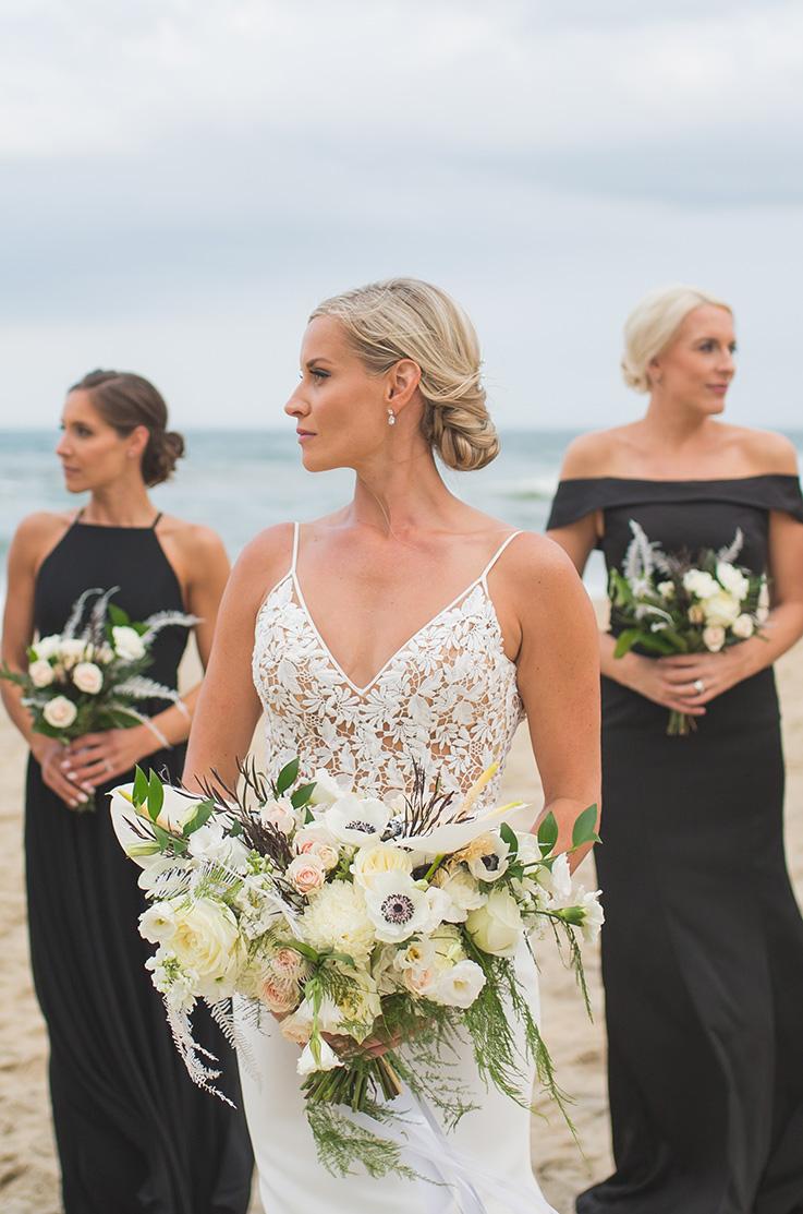 Real Bride Jennette's Pier – Courtney & Jeremy | Mikaella Bridal