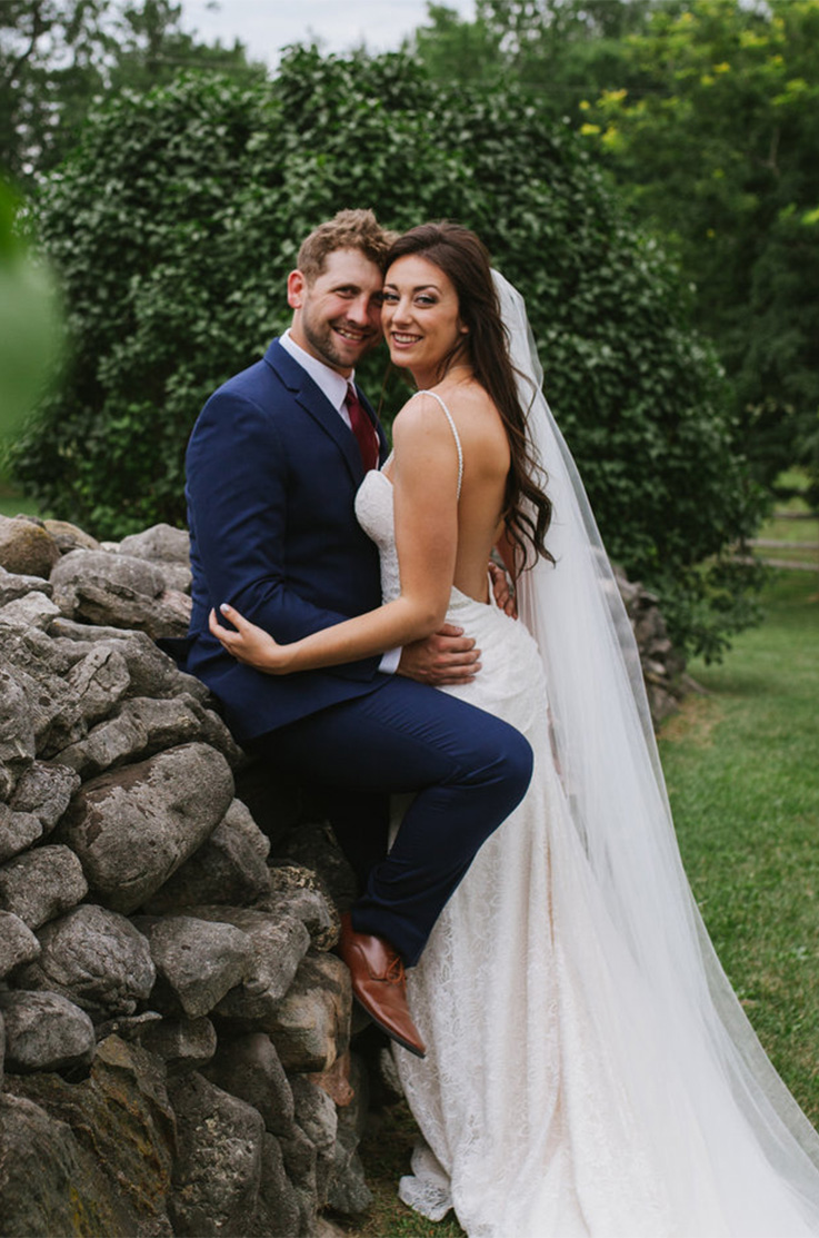 Real Bride Polmenna Barn – Heather & Jon | Mikaella Bridal