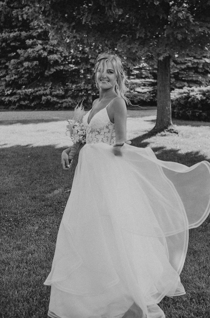 Real Bride Woodstock, ON – Angeline & Jesse | Mikaella Bridal