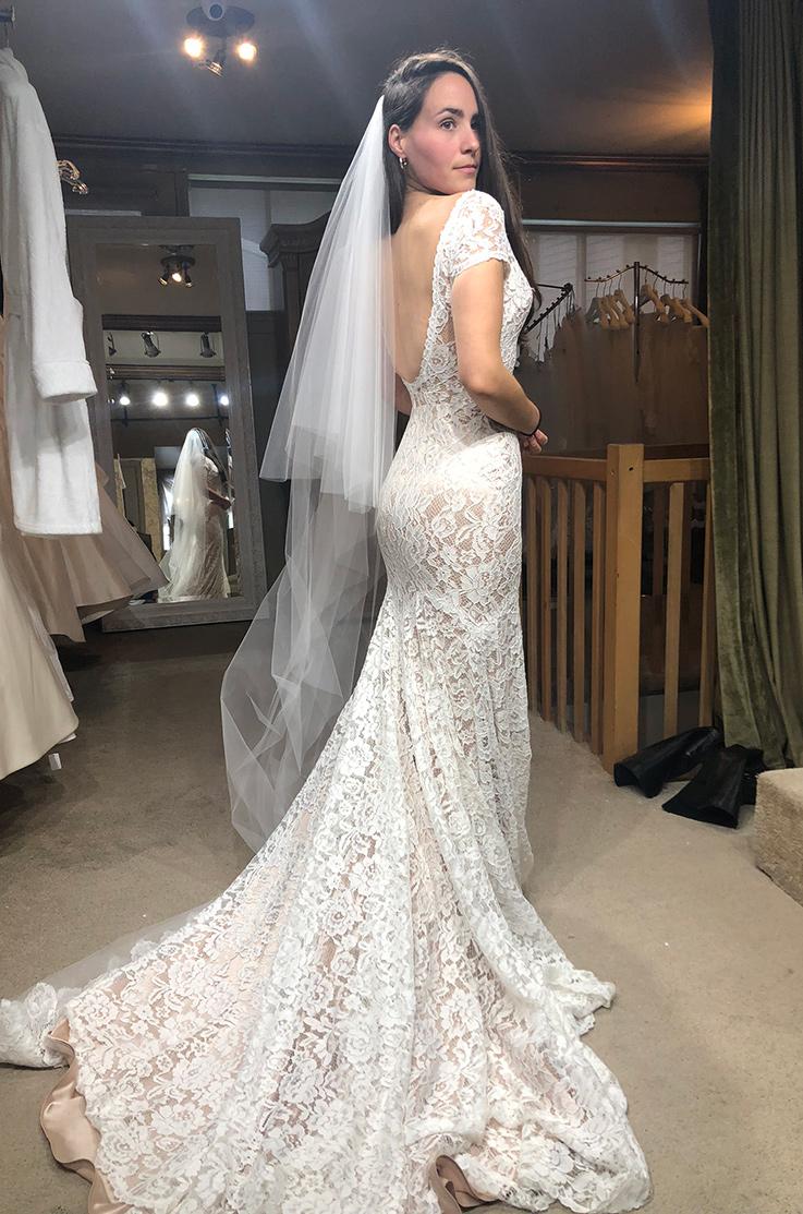 Real Bride Saint-Sauveur, Quebec – Chanel & Kevin   Mikaella Bridal