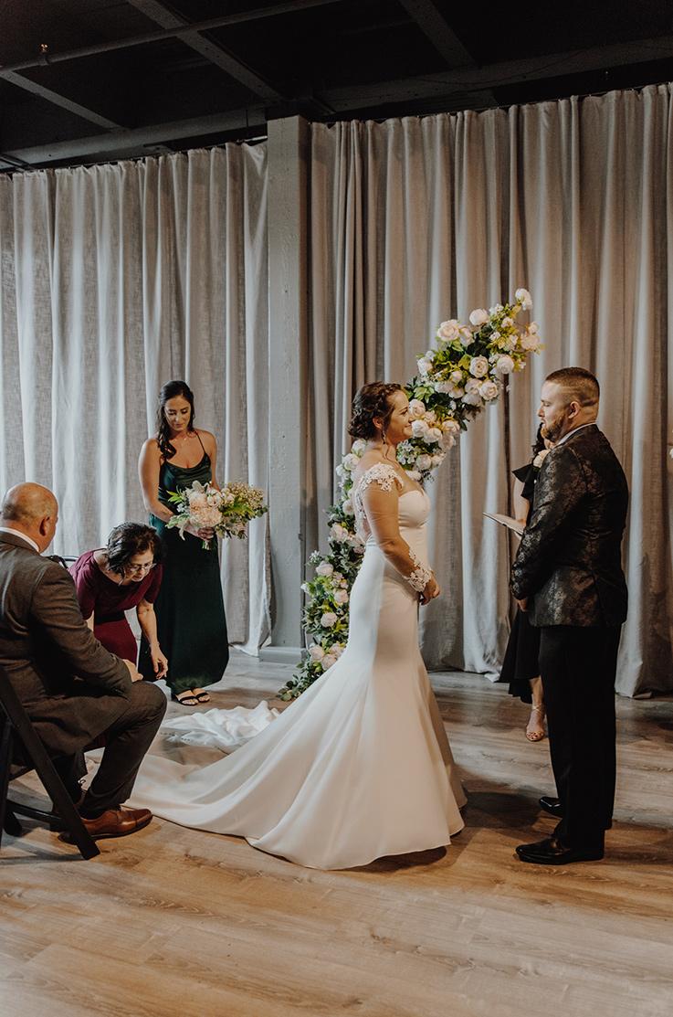 Real Bride Kin Event Space – Carly & John | Mikaella Bridal