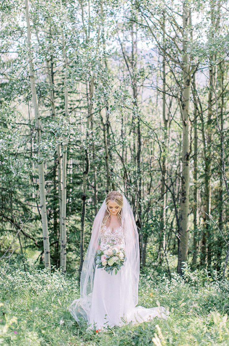 Real Bride Kananaskis Mountain Lodge – Dani & Steve | Mikaella Bridal
