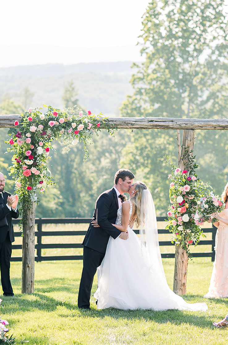 Real Bride Oak Barn at Loyalty – Laurel & Ryan | Paloma Blanca