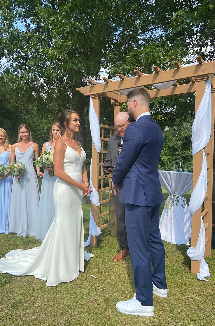 Real Bride Thousand Oaks Golf Club – Clare & Bryan   Mikaella Bridal