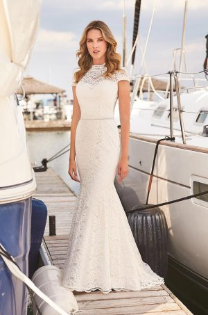 Fitted Lace Wedding Dress - Style #2376 | Mikaella Bridal
