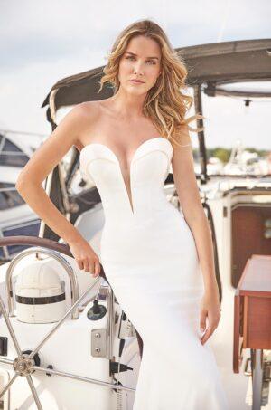 Dramatic Fitted Wedding Dress - Style #2384 | Mikaella Bridal