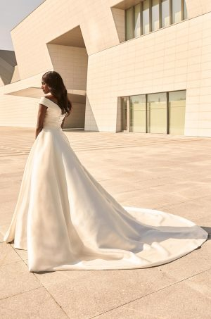 Sophisticated Mikado Wedding Dress - Style #4977 | Paloma Blanca