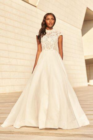 High Neck Ball Gown Wedding Dress - Style #4978 | Paloma Blanca