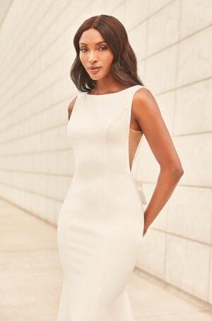Understated Crepe Wedding Dress - Style #4980 | Paloma Blanca