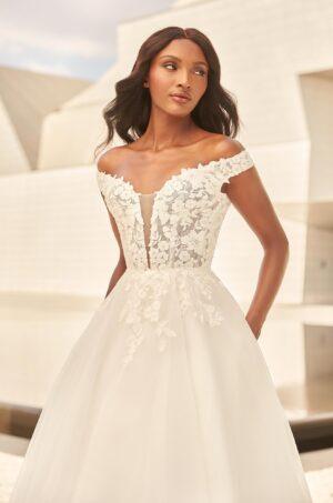 Elegant Floral Lace Wedding Dress - Style #4981 | Paloma Blanca