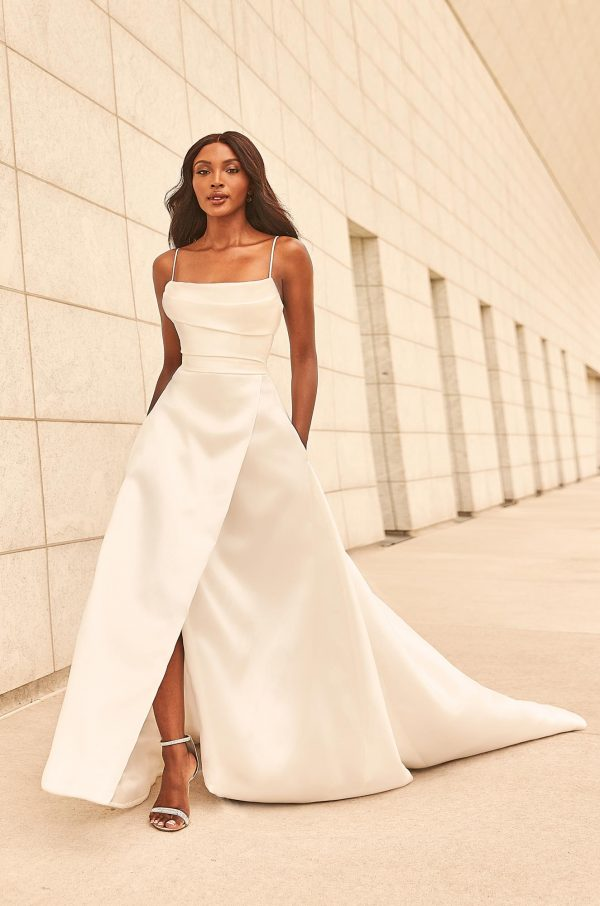Wrapped Skirt Wedding Dress - Style #4987   Paloma Blanca