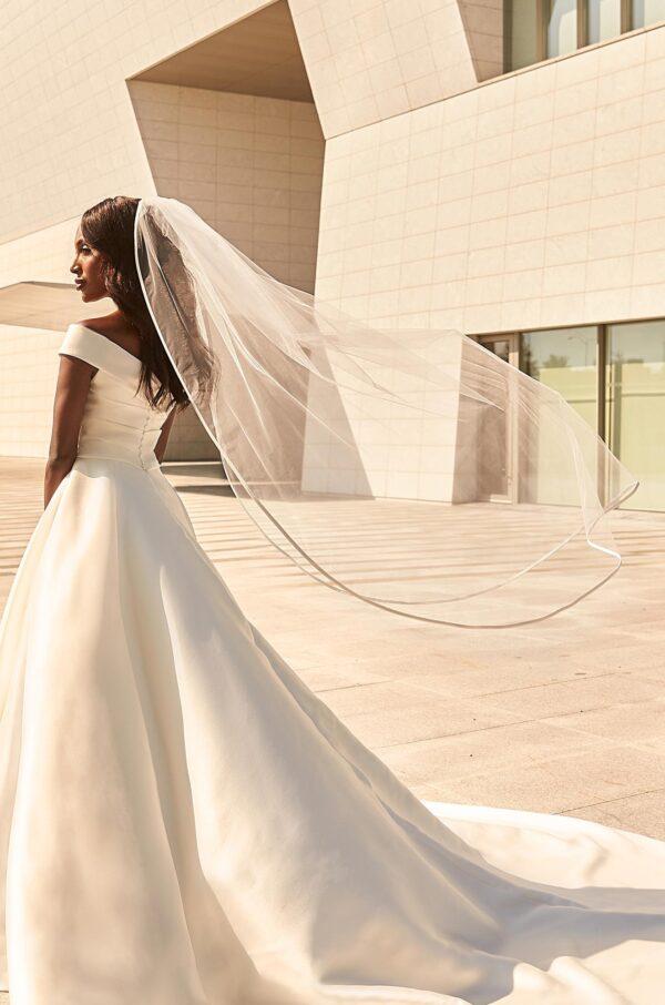 Fabric Bias Veil - Style #V496M | Paloma Blanca