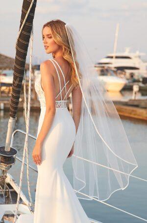 Fabric Bias Veil - Style #VM496C | Mikaella Bridal