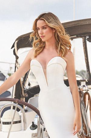 Dramatic Fitted Wedding Dress - Style #2384   Mikaella Bridal