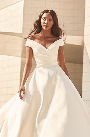 Sophisticated Mikado Wedding Dress - Style #4977   Paloma Blanca
