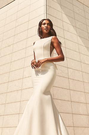 Understated Crepe Wedding Dress - Style #4980   Paloma Blanca